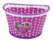 koš přední na dětské kolo Girl růžovo/bílo/fialový