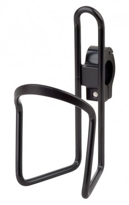 e2c885769c6 košík na láhev AL PRO-T na řidítka černý s objímko