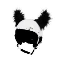 Crazy Uši ozdoba na helmu - ROHY černé chlupaté