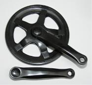 kliky 1-převodník 127mmx36z Fe černé 4hran kryt