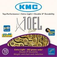 řetěz KMC X-10 EL Gold Light 114 čl.
