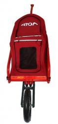 ATO-M Žeryk - vozík za kolo s taškou na zvířata a přípojkou na sedlovku