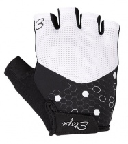 Etape - dámské rukavice BETTY, bílá/černá