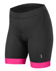 Etape - dámské kalhoty NATTY s vložkou, černá/růžová