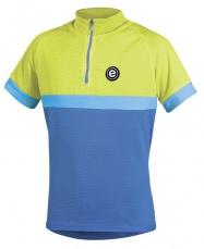 Etape - dětský dres BAMBINO, modrá/žlutá fluo