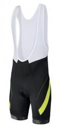 Etape - pánské kalhoty PROFI LACL s vložkou, černá/žlutá fluo