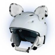 Crazy Uši ozdoba na helmu - Levhart sněžný