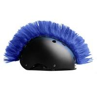 Crazy Uši ozdoba na helmu - Číro Wiggystyle Mohawk dark Blue