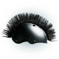 Crazy Uši ozdoba na helmu - Číro Wiggystyle Mohawk Black