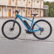 "EVbike Horské elektrokolo GEOMY Spire A1, 29"", rám 15"", modrá matná barva, přestavba"
