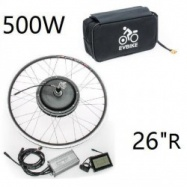 """EVbike Přestavbová sada 500W, 36V, 26"""", jednotka, LCD displej, baterie 13Ah v brašně, zadní umístění - EVBIKE"""