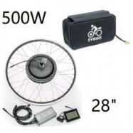 """EVbike Přestavbová sada  500W, 36V, 28"""", jednotka, LCD displej, baterie 13Ah v brašně, přední umístění - EVBIKE"""