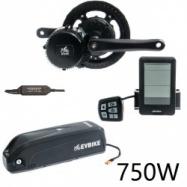 EVbike Přestavbová sada na elektrokolo 750W, 48V, displej C10, baterie 13Ah do rámu, gearsensor - EVBIKE