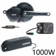 EVbike Přestavbová sada na elektrokolo 1000W, 48V, 68 mm, displej E12, baterie 13Ah do rámu, gearsensor - EVBIKE