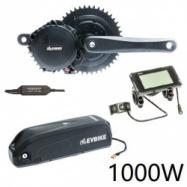 EVbike Přestavbová sada na elektrokolo 1000W, 48V, 68 mm, displej C961, baterie 13Ah do rámu, gearsensor - EVBIKE