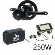 EVbike Přestavbová sada na elektrokolo 250W, 36V, displej C961, baterie 13Ah v brašně - EVBIKE