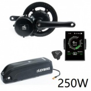 EVbike Přestavbová sada na elektrokolo 250W, 36V, displej C18, baterie 20Ah do rámu - EVBIKE