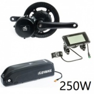EVbike Přestavbová sada na elektrokolo 250W, 36V, displej C961, baterie 15,6Ah na rám - EVBIKE
