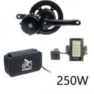 EVbike Přestavbová sada na elektrokolo 250W, 36V, displej C965, baterie 13Ah v brašně - EVBIKE
