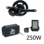 EVbike Přestavbová sada na elektrokolo 250W, 36V, displej C10, baterie 16Ah v brašně - EVBIKE