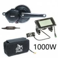 EVbike Přestavbová sada na elektrokolo 1000W, 48V, 68 mm, displej C961, baterie 13Ah v brašně, gearsensor - EVBIKE