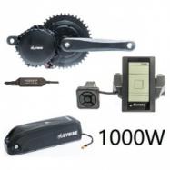 EVbike Přestavbová sada na elektrokolo 1000W, 48V, 68 mm, displej C965, baterie 13Ah v brašně, gearsensor - EVBIKE