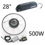 """EVbike Přestavbová sada  500W, 36V, 28"""", jednotka, LCD displej, baterie 13Ah na rám, přední umístění - EVBIKE"""