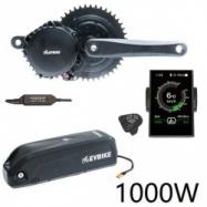 EVbike Přestavbová sada na elektrokolo 1000W, 48V, 68 mm, displej C18, baterie 17Ah do rámu, gearsensor - EVBIKE