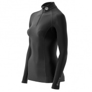 SKINS A200 Womens Black Thermal Long sleeve mck nck zipper