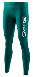 SKINS SKINS DNAmic Primary Womens Long Tights Deep Teal Logo