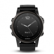 Garmin fenix5S Sapphire Black Optic, Black band