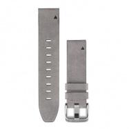 Řemínek pro fenix5S - QuickFit 20, kožený, šedý semiš