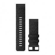 Řemínek pro fenix6X - QuickFit 26, nylonový, černý, černá přezka