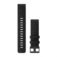 Řemínek pro fenix6 - QuickFit 22, nylonový, černý, černá přezka