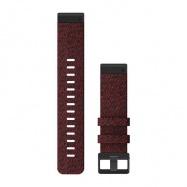 Řemínek pro fenix6 - QuickFit 22, nylonový, červený, černá přezka