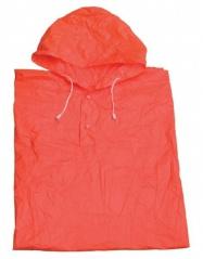 pláštěnka pončo PVC dospělá oranžová