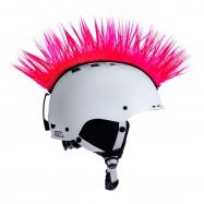 Crazy Uši ozdoba na helmu - Číro Wiggystyle Mohawk Pink