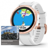 Garmin fenix6S PRO Glass, RoseGold/White Band (MAP/Music)