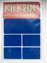 samolepka KICKRIDE reflexní modrá