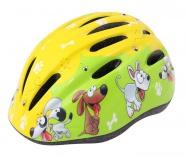 Etape – dětská přilba na kolo REBEL, žlutá/zelená