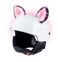 Crazy Uši ozdoba na helmu -  KOČKA růžová