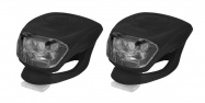 sada blikaček LONGUS př.+zad.2 LED/2fce černé+bat
