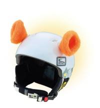 Crazy Uši ozdoba na helmu - OUŠKA oranžová