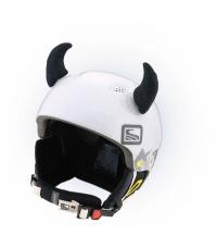 Crazy Uši ozdoba na helmu - ROHY černé