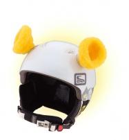 Crazy Uši ozdoba na helmu - OUŠKA žlutá