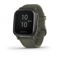 Garmin Venu Sq Music, Slate/Green Band