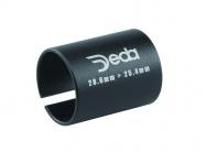 redukce představce DEDA 28,6 - 25,4 mm černá