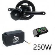 EVbike Přestavbová sada na elektrokolo 250W, 36V, displej 500C, baterie 16Ah v brašně - EVBIKE