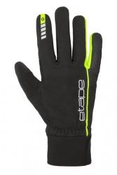 Etape – rukavice PEAK WS+, černá/žlutá fluo