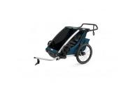 THULE CHARIOT CTS CROSS 2 MAJOLICA BLUE 2021 + bike set + kočárkový set